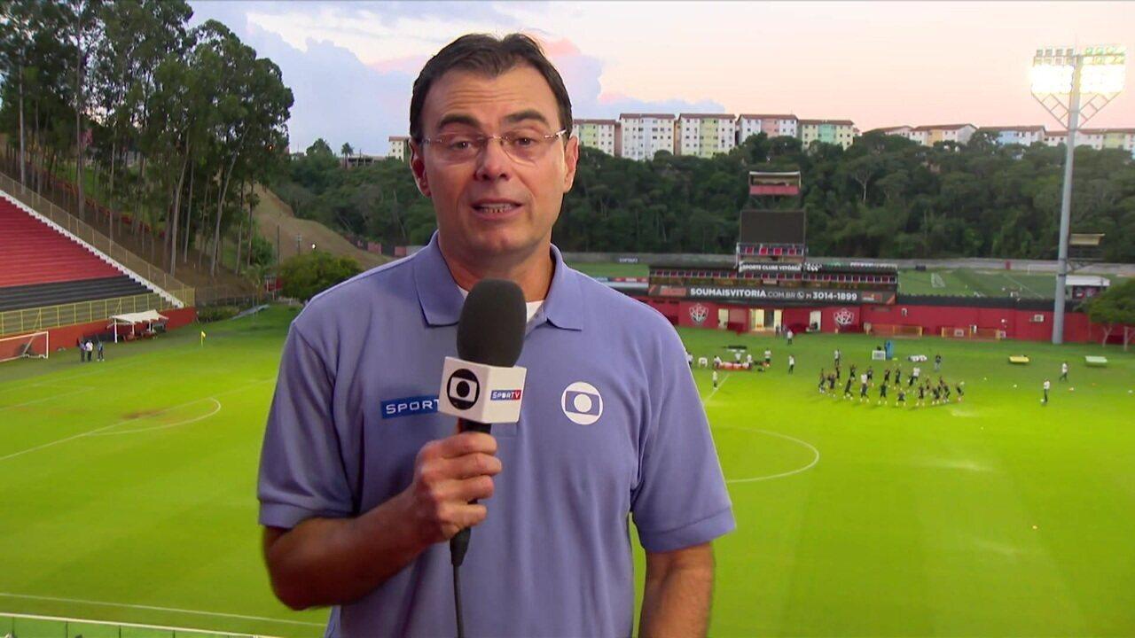 Com retorno de Arthur, Brasil treina no Barradão para jogo com Venezuela