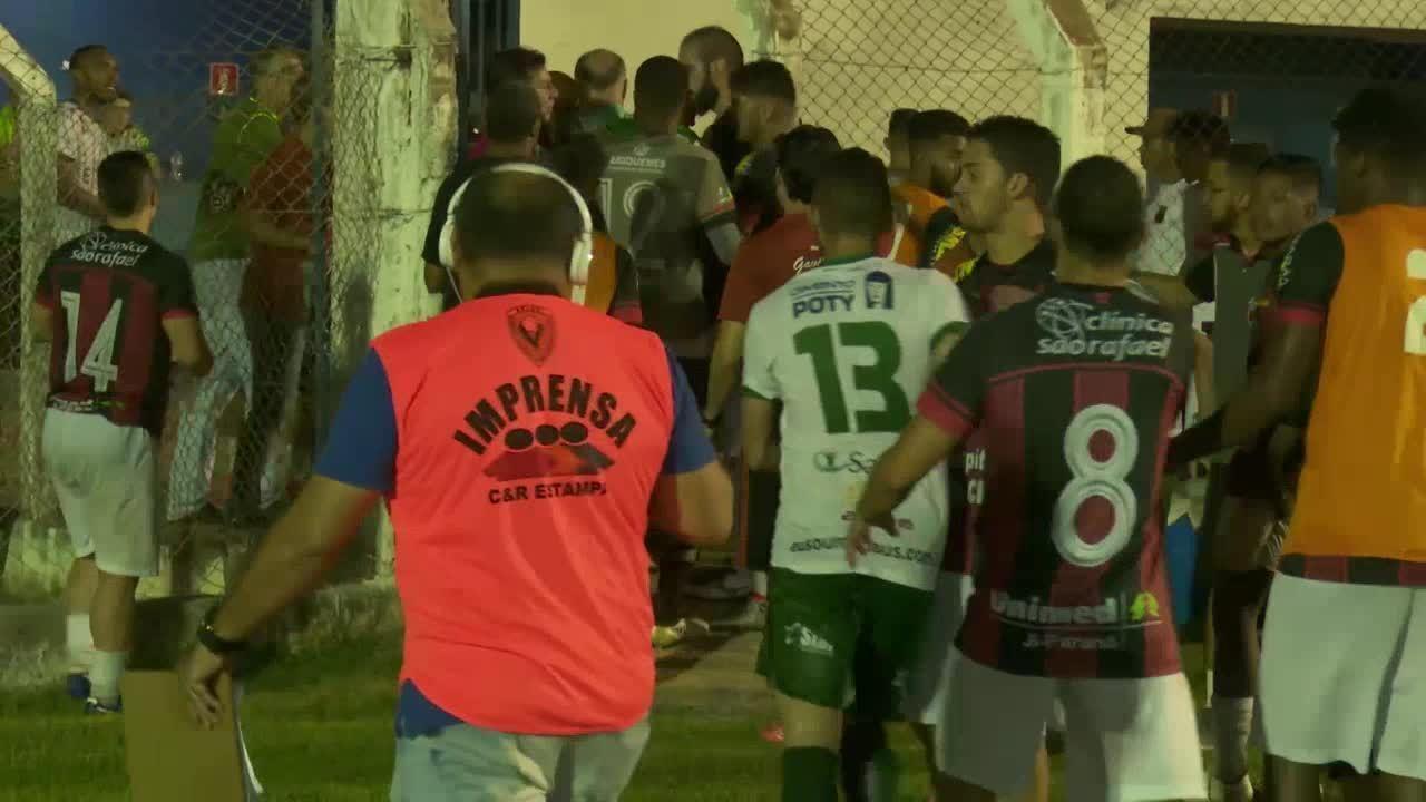 Confusão no pós-jogo entre Real Ariquemes e Manaus