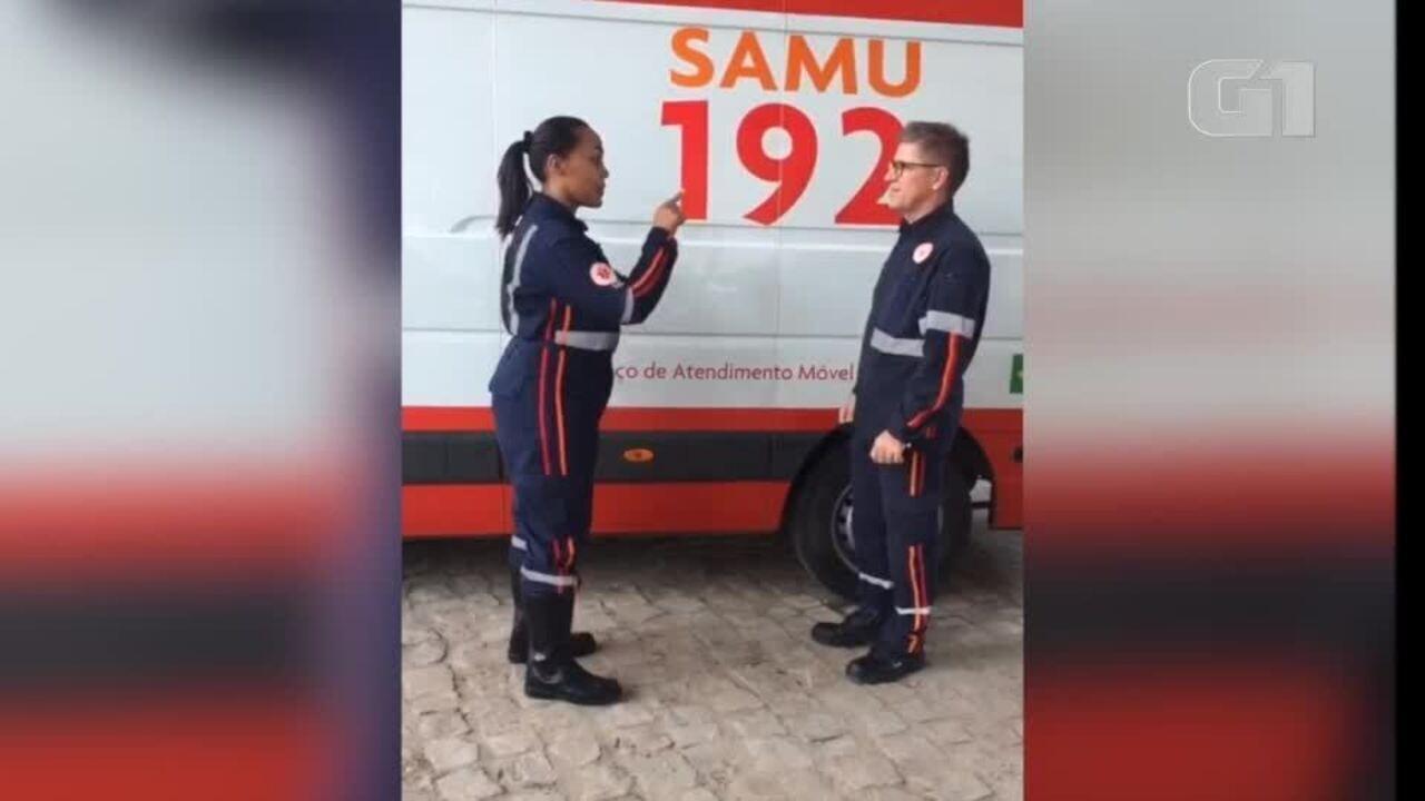 Equipe do SAMU passa por treinamento de libras para atendimentos especiais