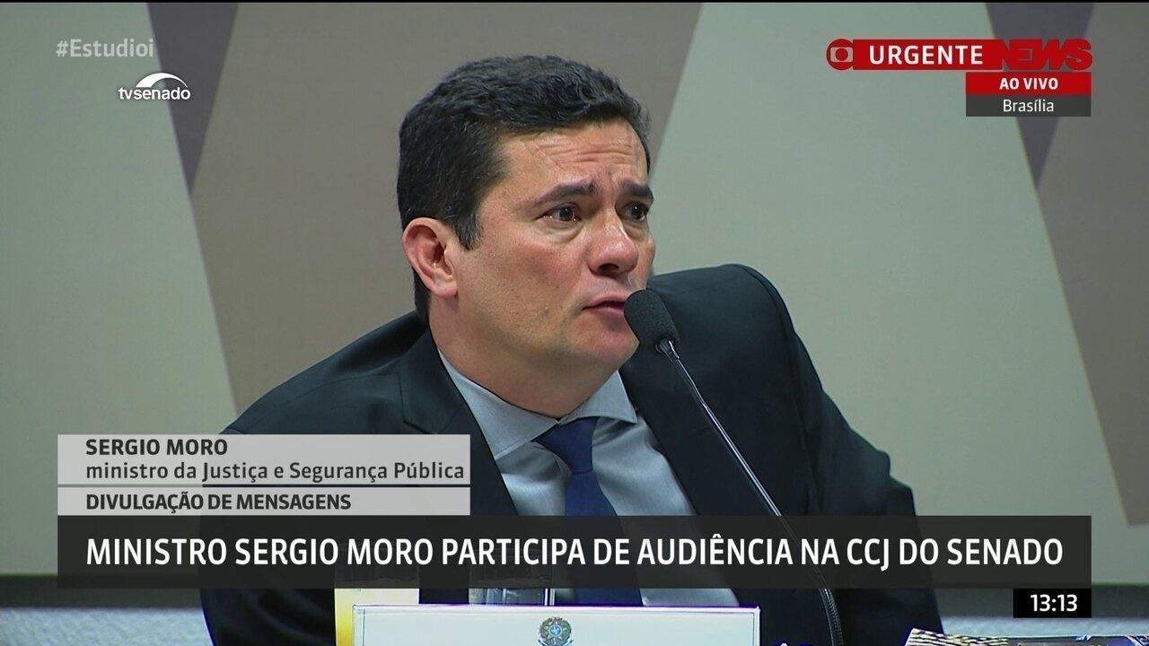 Moro responde sobre diferenças entre divulgação do Intercept e do grampo de Dilma