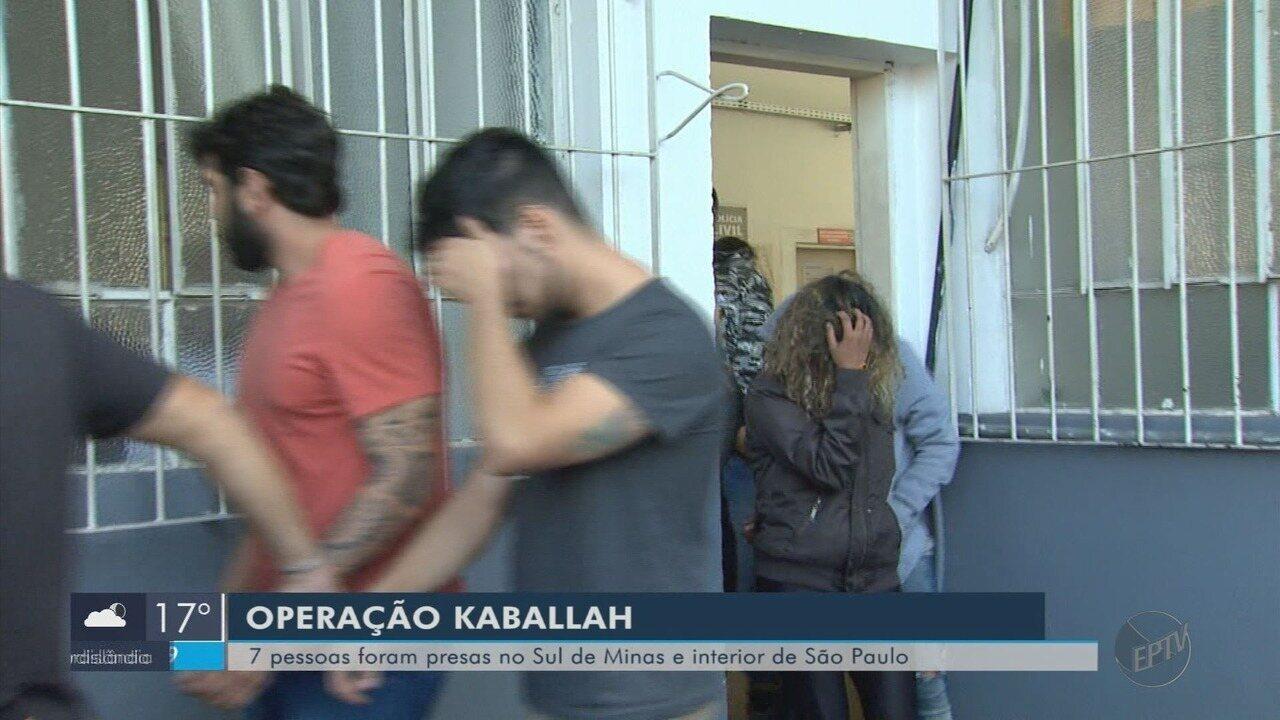 Polícia prende sete pessoas em 3ª fase da Operação Kaballah em Poços de Caldas