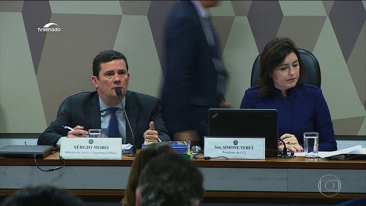 Moro fala ao Senado sobre mensagens divulgadas pelo site The Intercept