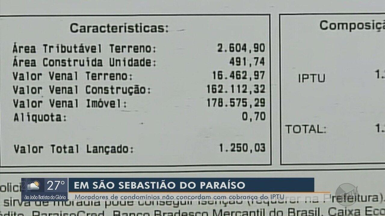 Moradores de condomínios reclamam de cobrança inédita de IPTU em São Sebastião do Paraíso