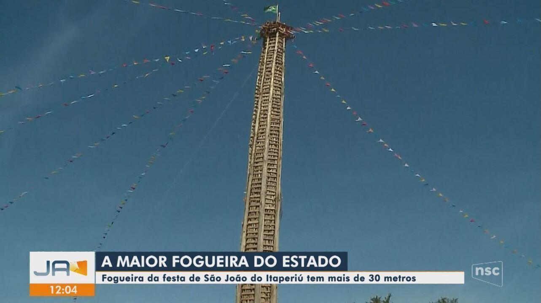 Fogueira da Festa de São João do Itaperiú será acesa neste sábado (22)