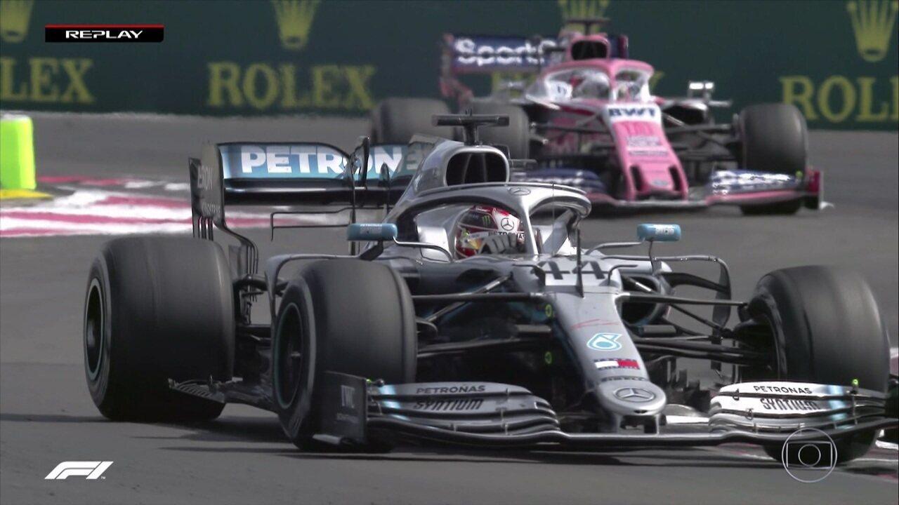 Hamilton fala sobre bolhas no pneu e faz volta mais rápida