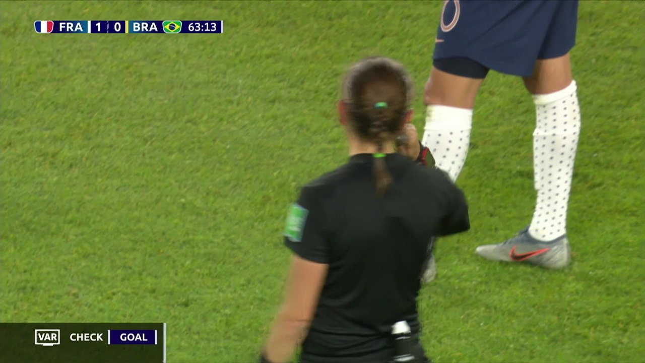 Os gols de França 2 x 1 Brasil pelas oitavas da Copa do Mundo de futebol feminino