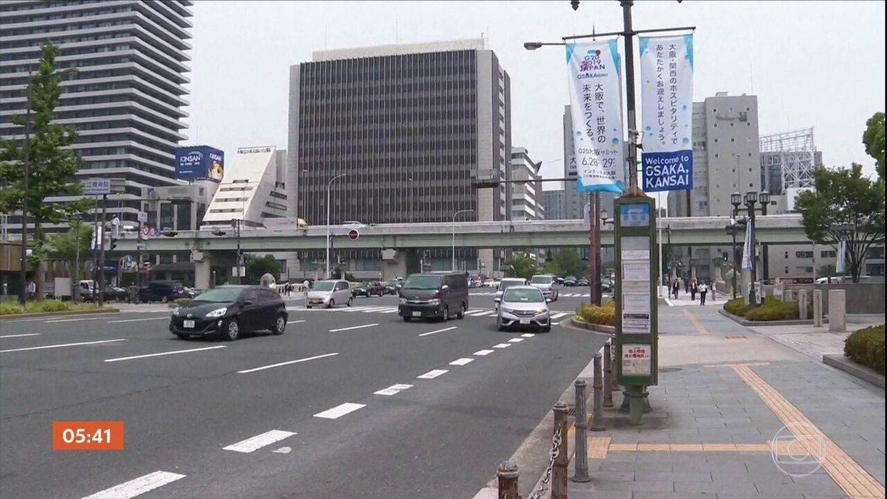 Segurança é reforçada em Osaka, no Japão, para reunião do G20