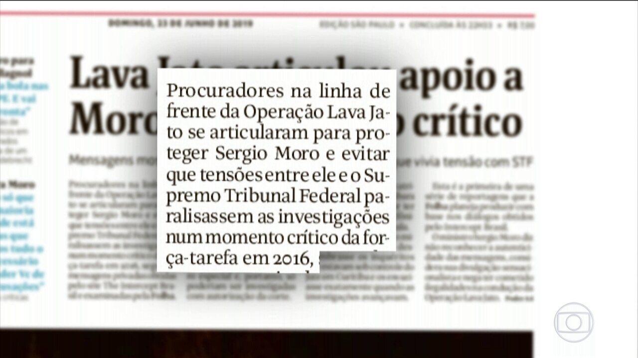 Novos diálogos sugerem articulação para apoiar Moro em tensões com STF, diz jornal