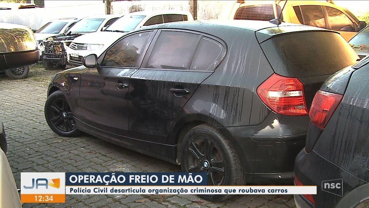 Polícia em Joinville deflagra operação contra roubo de veículos e desmonta organização