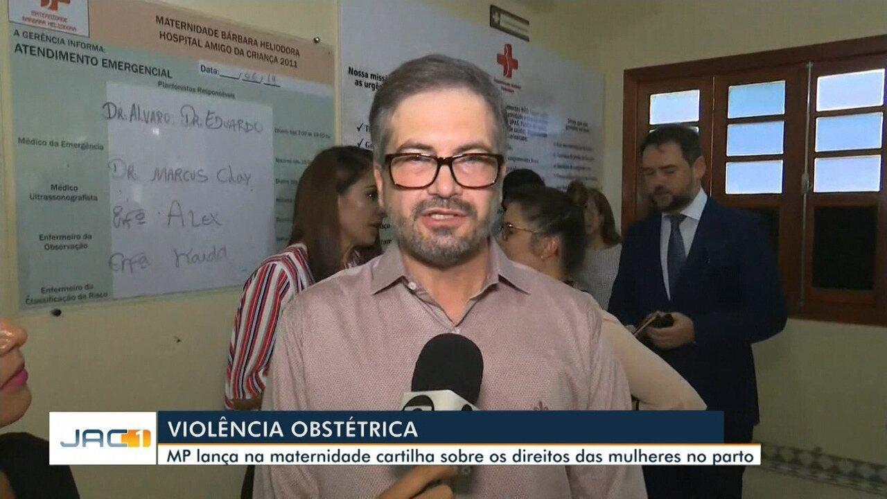 Cartilha com direito das mulheres no parto é lançada na maternidade de Rio Branco