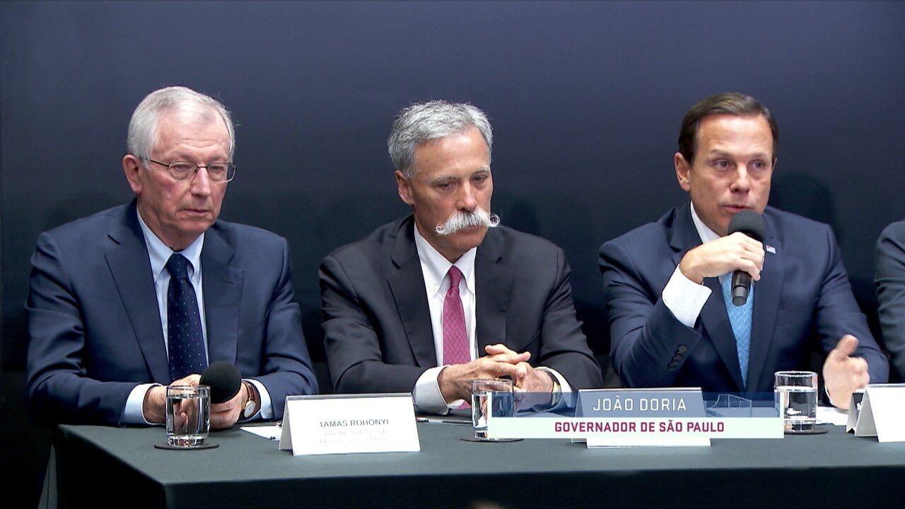 Doria desmente Bolsonaro e diz que não há tempo para fazer um autódromo na região de Deodoro, no Rio