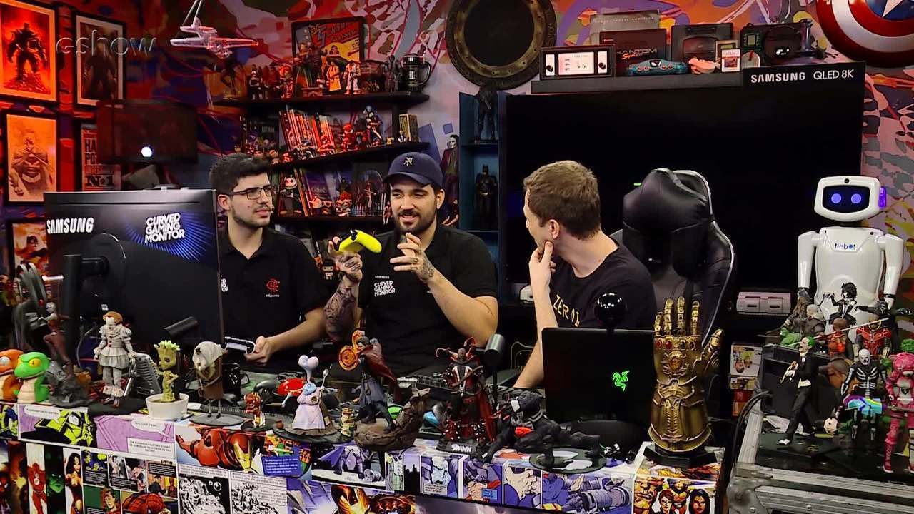 Gameplay estendido de 'Speedrunners' com Tiago Leifert, brTT e Robo no 'Zero1'