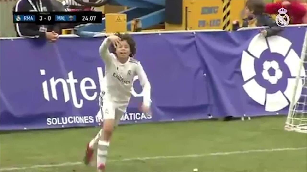 Filho de Marcelo é destaque na base do Real Madrid