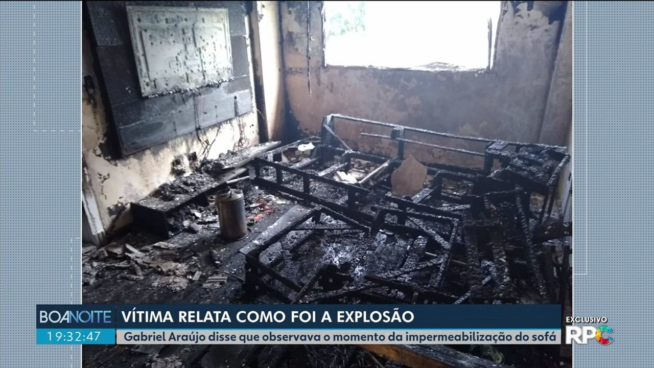 Gabriel Araújo, uma das vítimas da explosão, fala com exclusividade a RPC