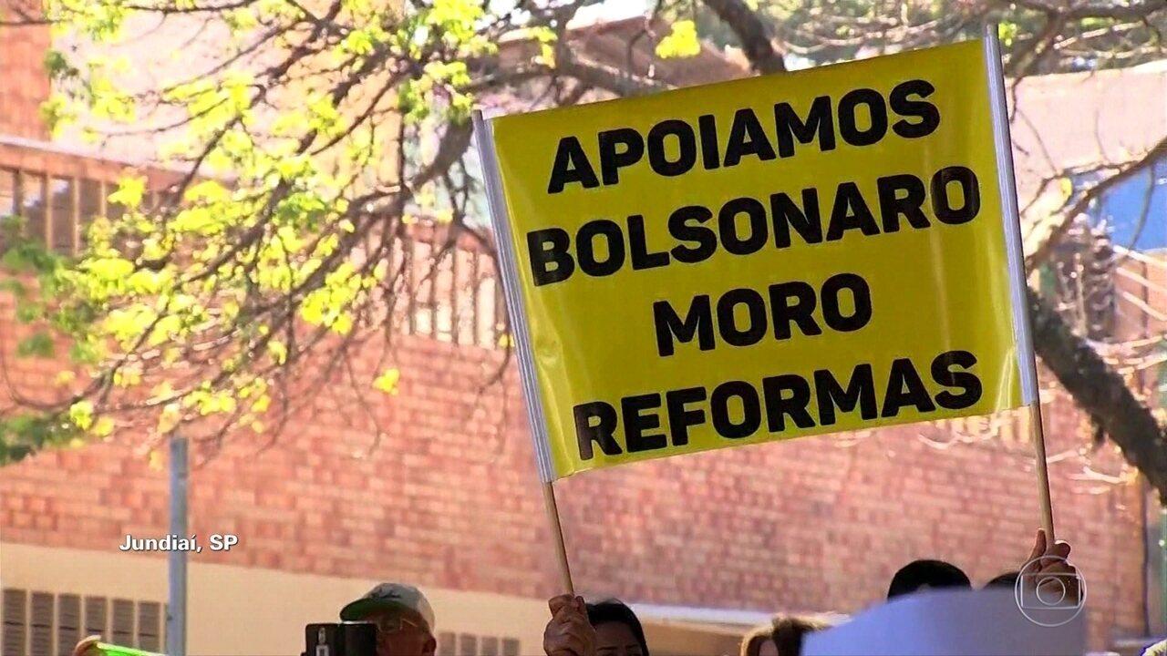 Cidades têm manifestações em defesa de Sérgio Moro, da Lava Jato e de propostas do governo