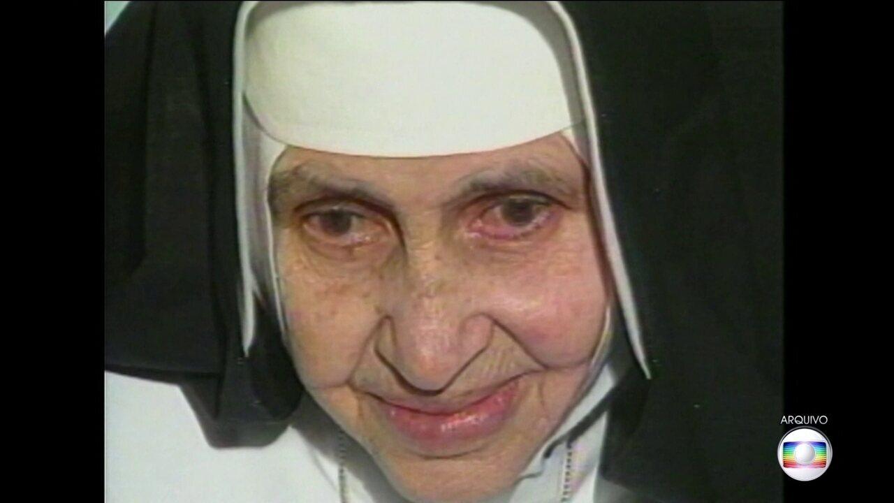 Vaticano anuncia que a canonização da irmã Dulce será em 13 de outubro