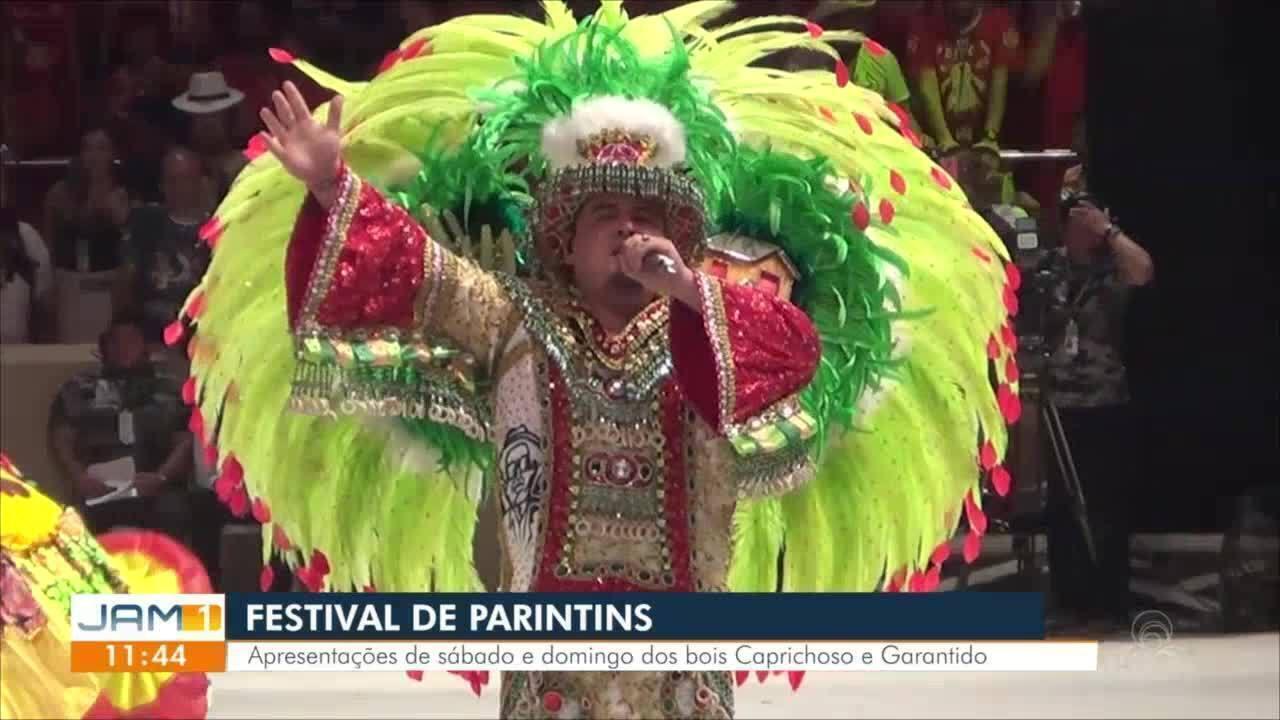 Garantido e Caprichoso encerram 3ª noite do Festival de Parintins; edição reúne 40 mil