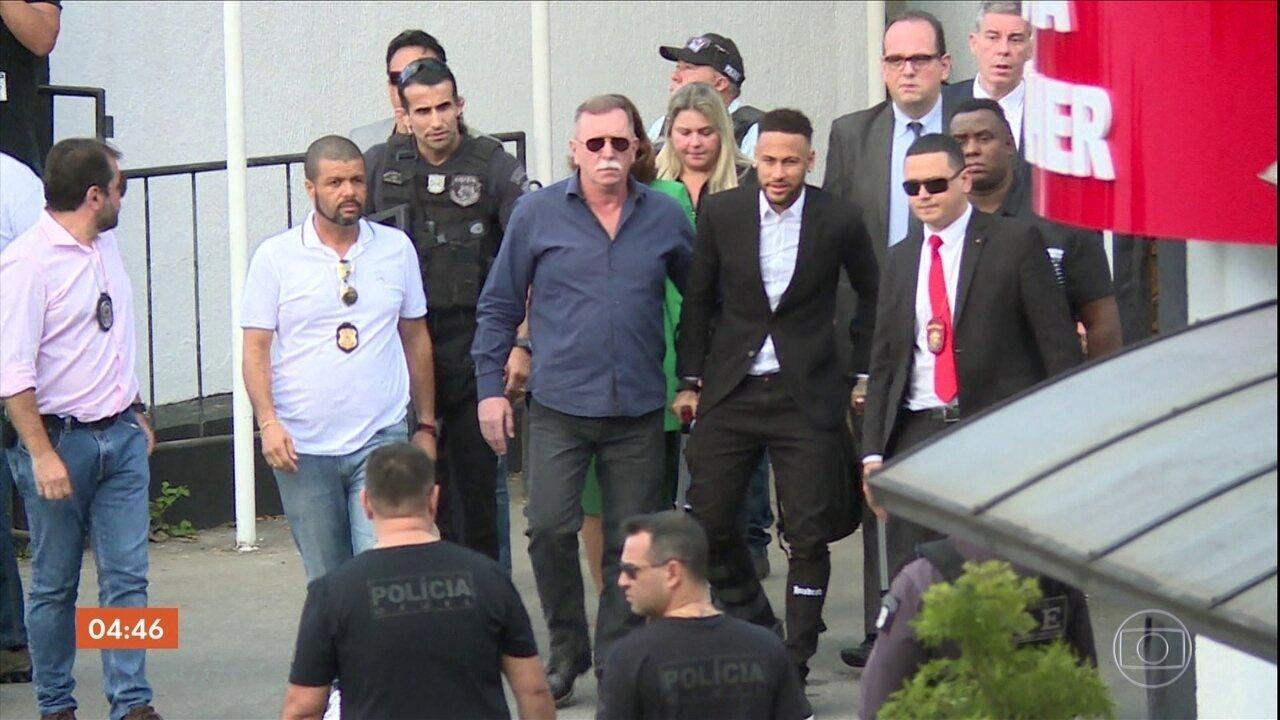 Polícia de SP pede prazo maior para apurar acusação de estupro que envolve Neymar