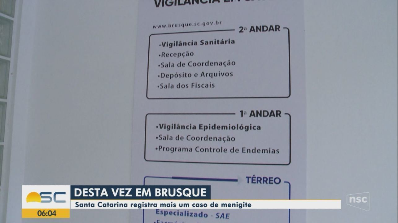 Idoso é internado com meningite em Brusque