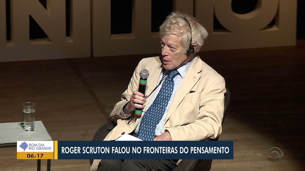 Fronteiras do Pensamento recebe palestra sobre política mediada por Roger Scruton