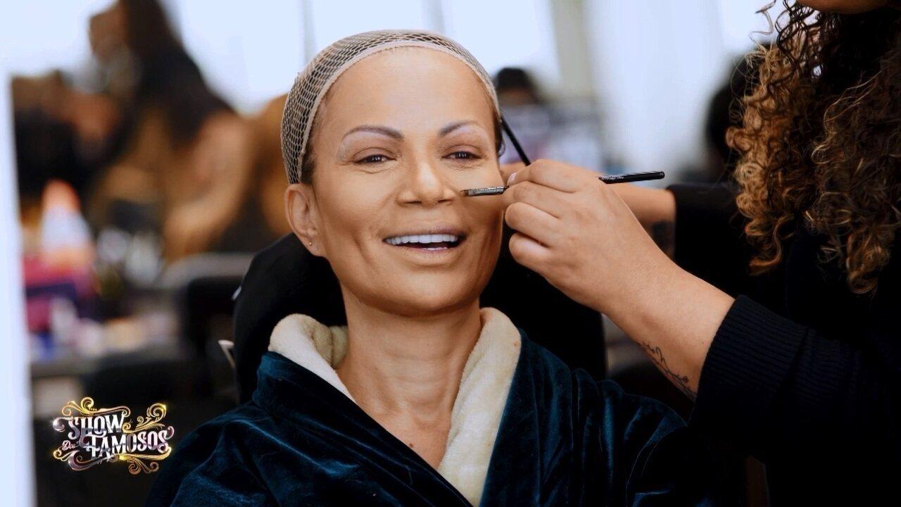 Veja a preparação de Solange Almeida para homenagear Mariah Carey no 'Show dos Famosos'