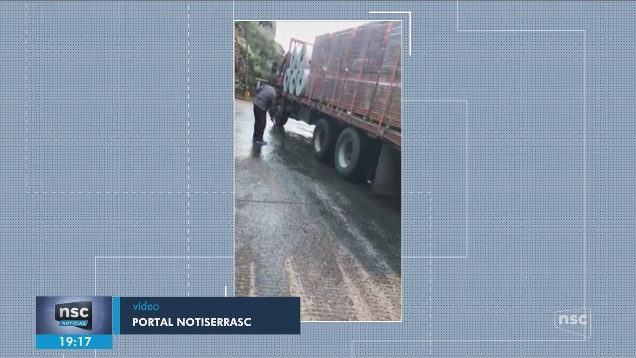 PMRV interdita Serra do Rio do Rastro por risco de camada de gelo na pista