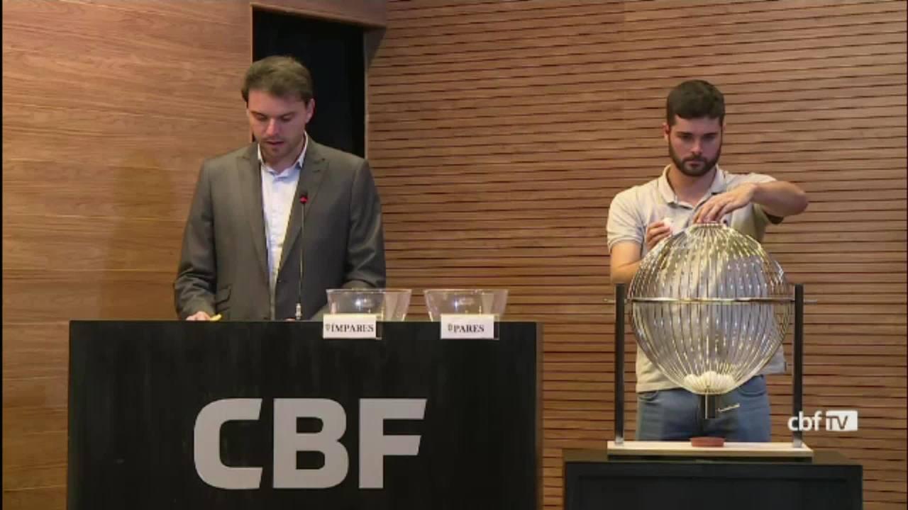 CBF realiza sorteio da Copa do Brasil Sub-17