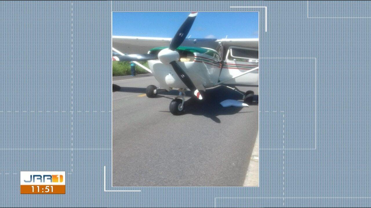 Avião é apreendido com drogas após pouso na BR-174, em RR, diz PF