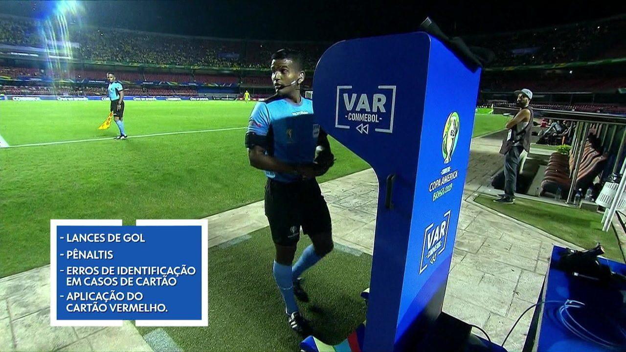 Árbitro de Vídeo, VAR é o grande destaque da Copa América