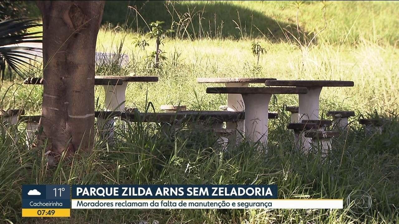 Parque Zilda Arns está com problemas de zeladoria