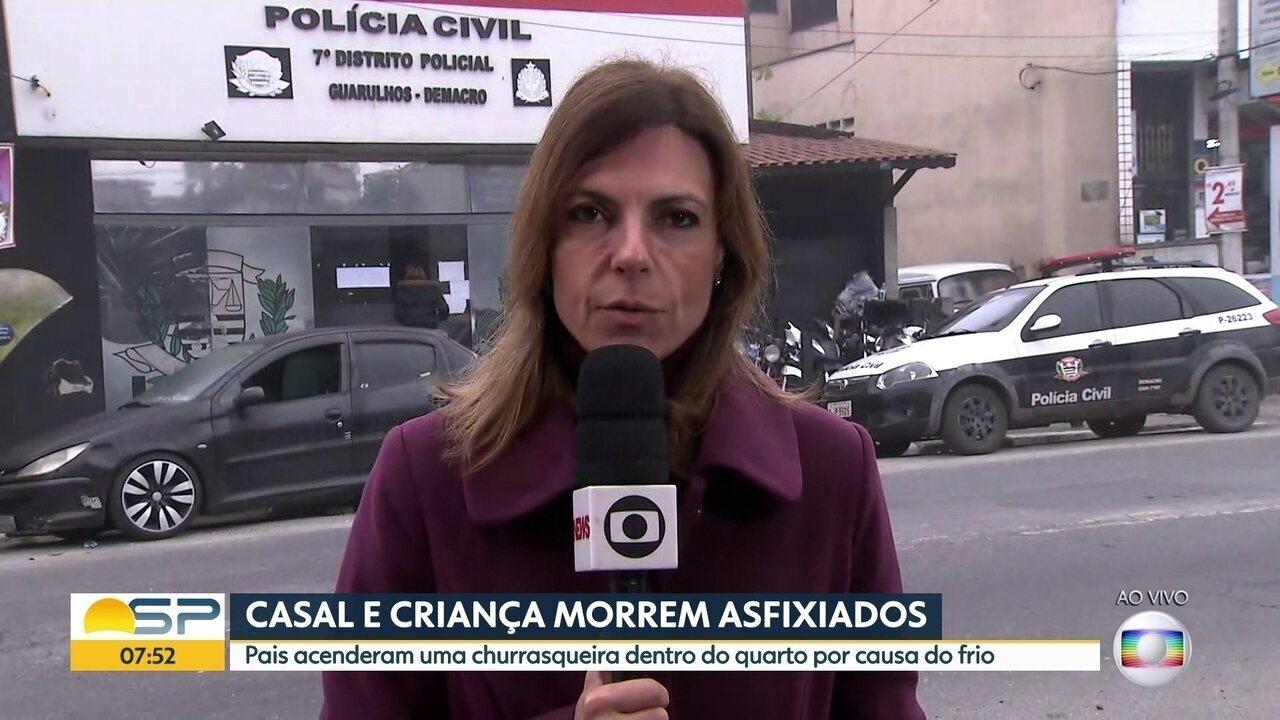 Casal e criança morrem asfixiados em Guarulhos
