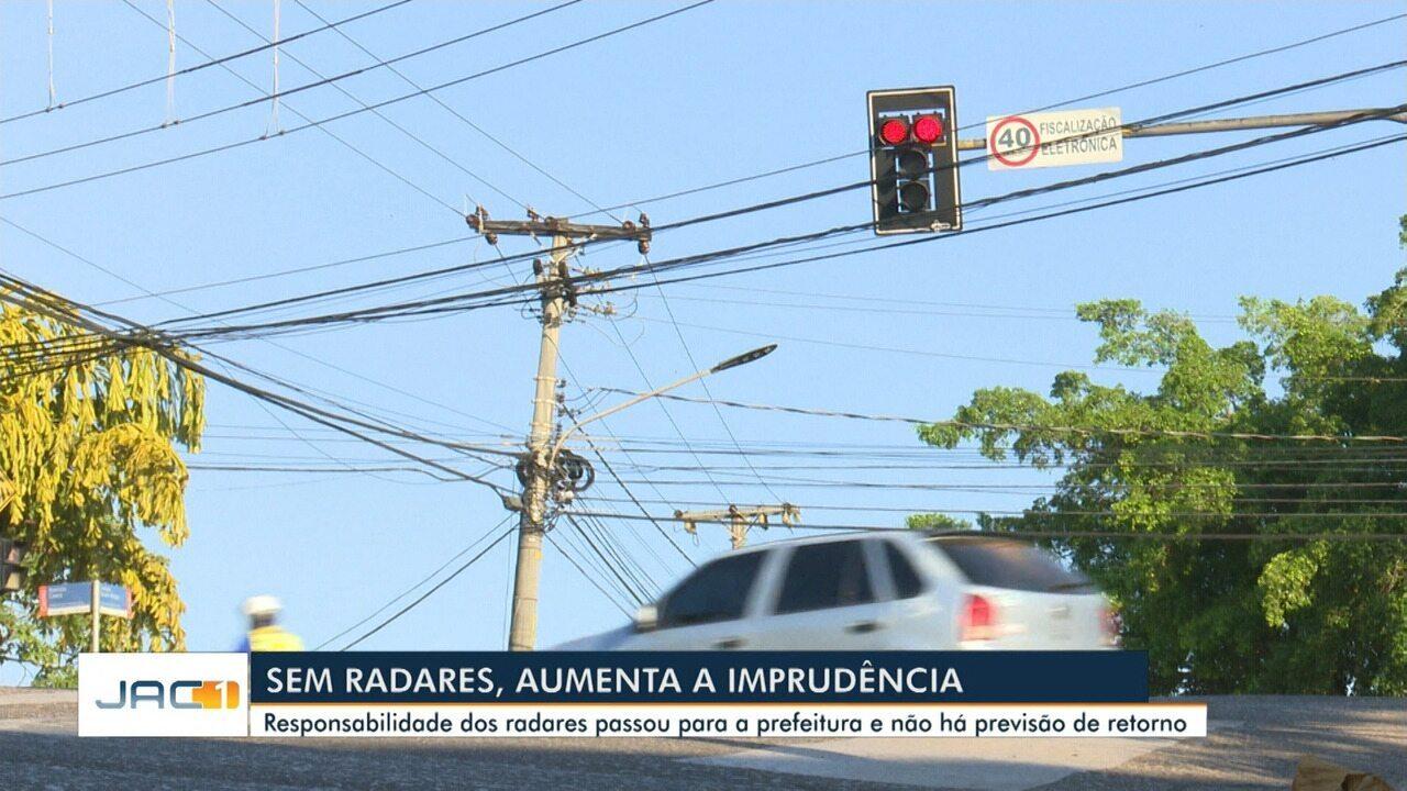 Sem radares, aumenta a imprudência no trânsito de Rio Branco