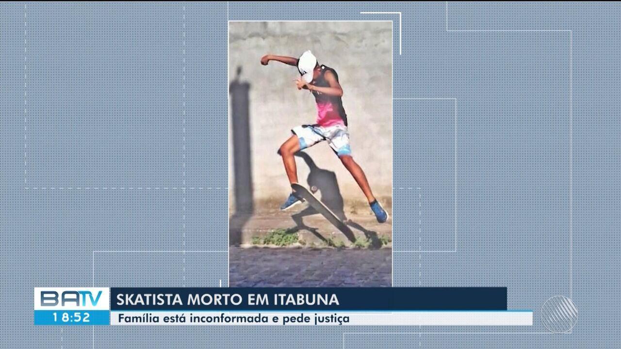 Jovem morto em praça de Itabuna enquanto andava de skate é enterrado