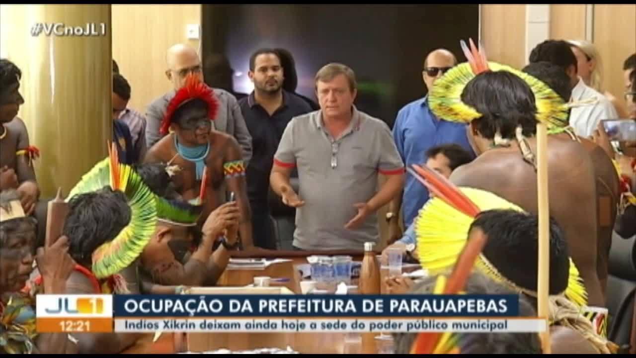 Indígenas desocupam sede da Prefeitura de Parauapebas