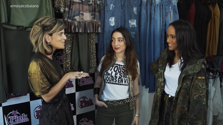 Paulinha Magalhães monta looks com a tendência da moda militar