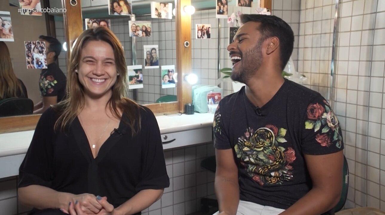 Fernanda Gentil se diverte em quiz com Pablo Vasconcelos