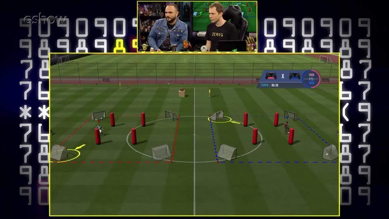 Gameplay de Tiago Leifert com Ed Gama