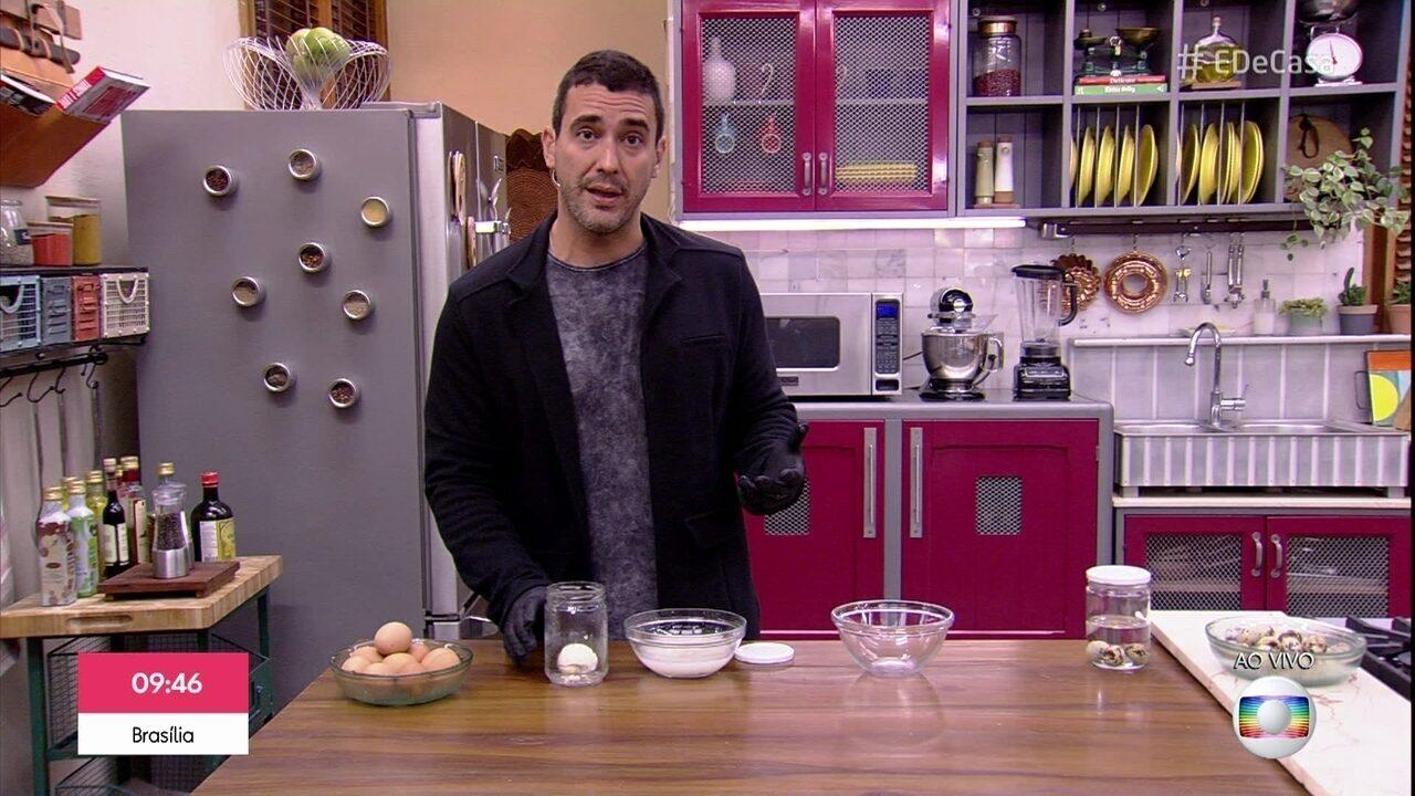 André Marques encara o desafio de tirar a casca do ovo