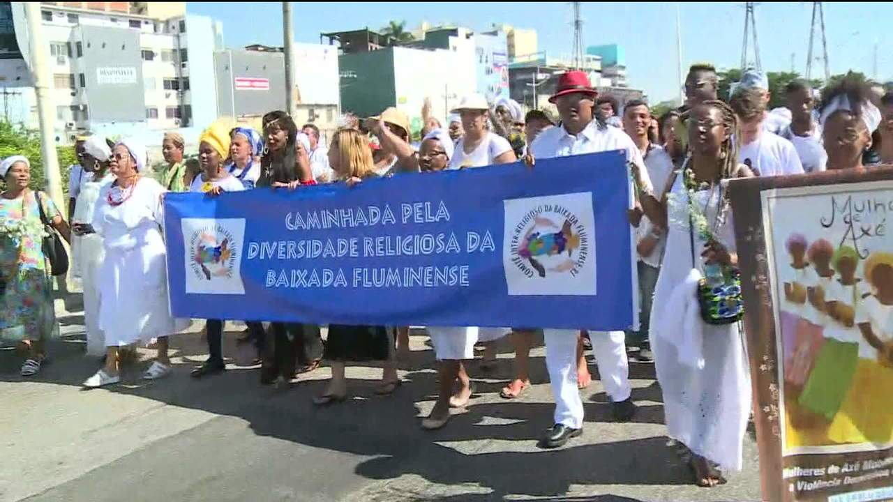 Ato na Baixada Fluminense, no Rio, pede diálogo e respeito à fé