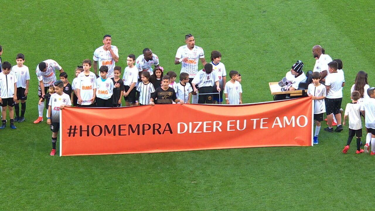 Campanha publicitária na partida entre Corinthians e CSA