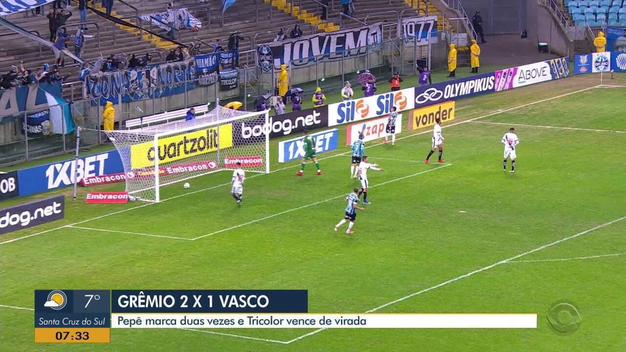 Pepê é destaque e garante vitória do Grêmio contra o Vasco