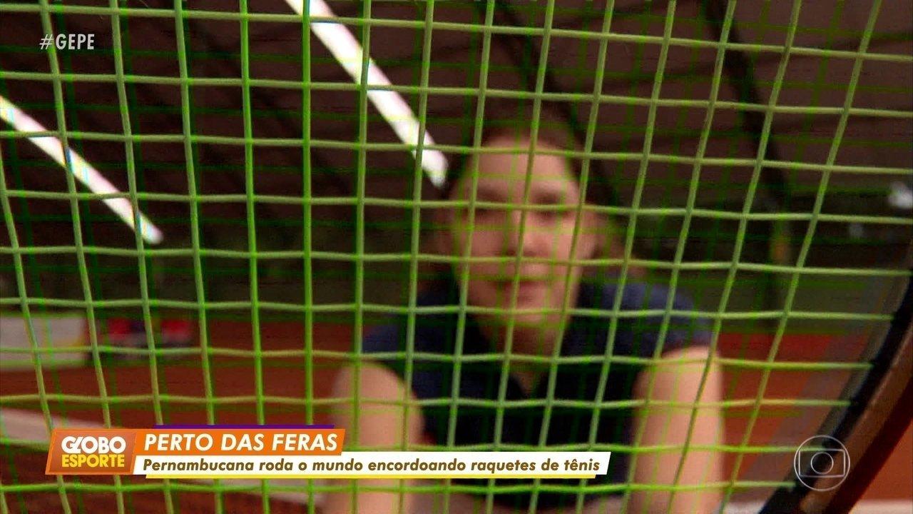 Conheça a pernambucana que virou encordoadora das raquetes de Djokovic