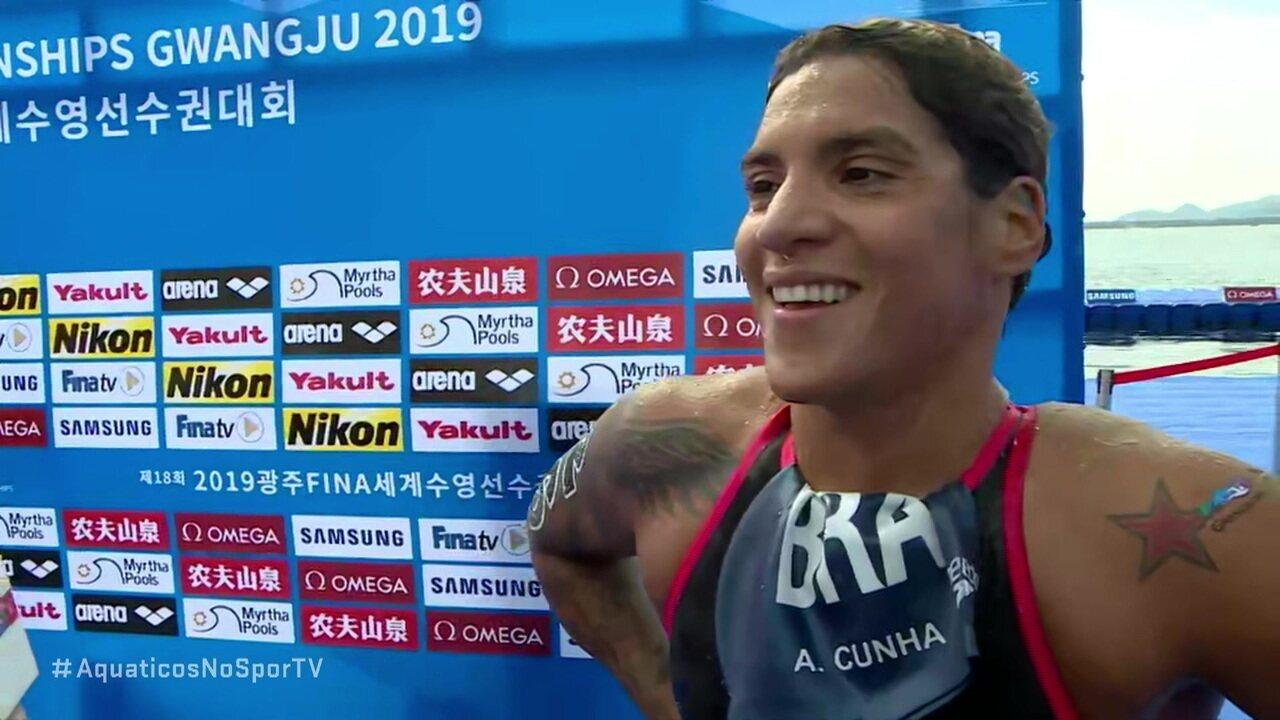 Brasileira Ana Marcela é ouro nos 5km no Mundial de Maratonas Aquáticas