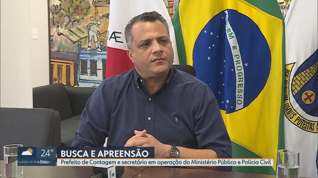 Prefeito de Contagem, Alex de Freitas, e secretários são alvos de operação do MPMG