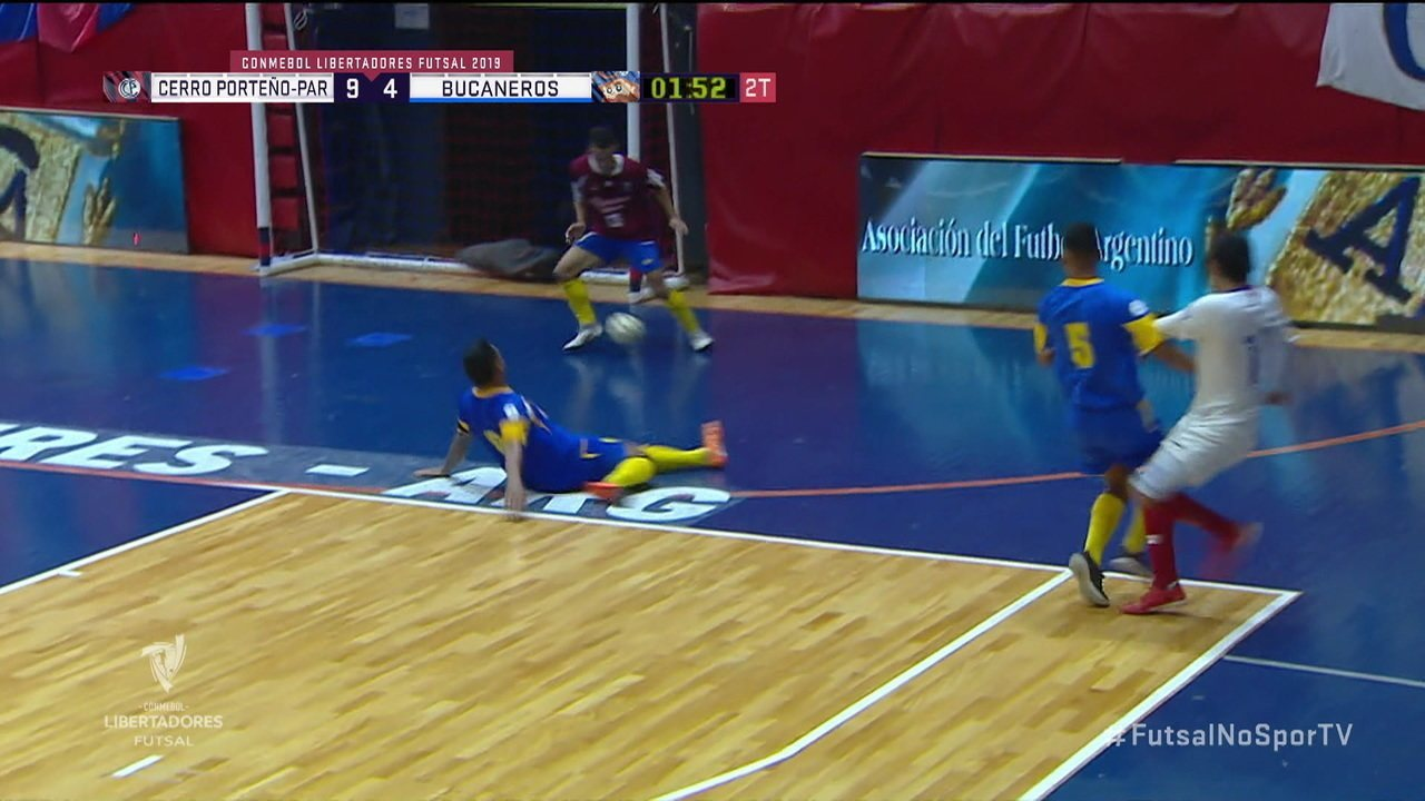 Os gols de Cerro Porteño 9 x 4 Bucaneros pelas quartas de final da Copa Libertadores de Futsal