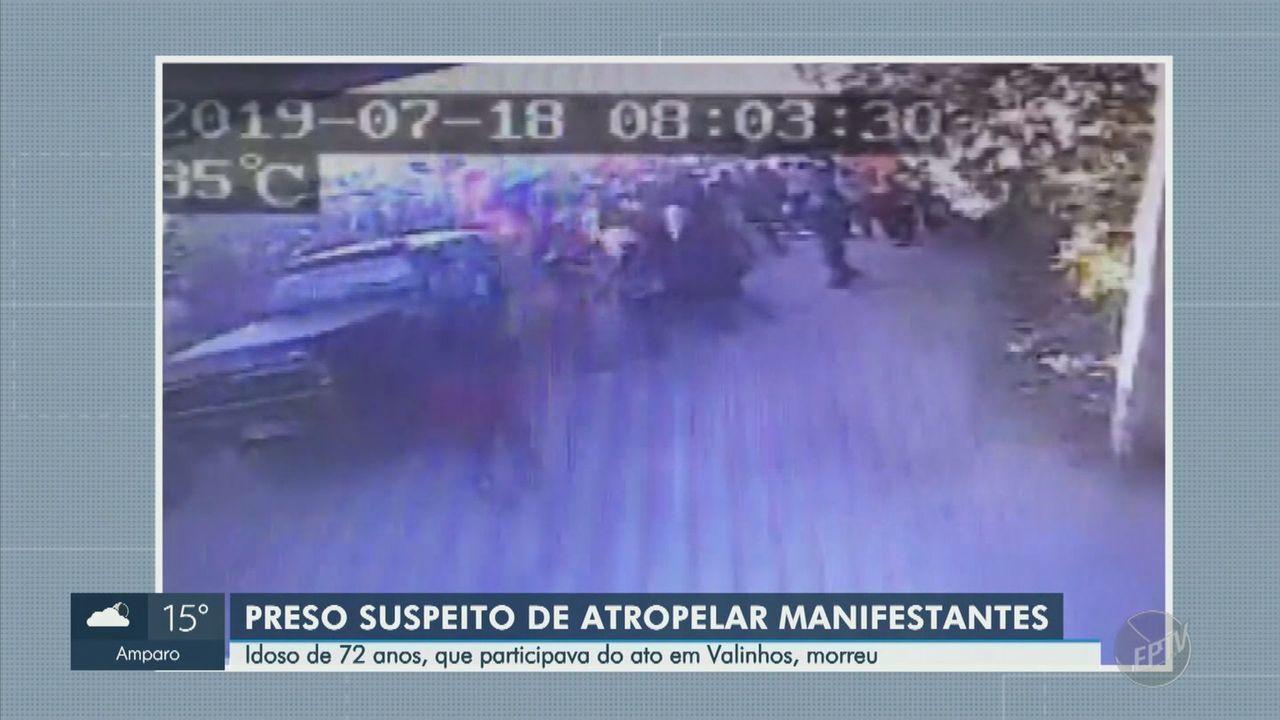 Polícia prende suspeito de atropelar idoso em manifestação do MST, em Valinhos
