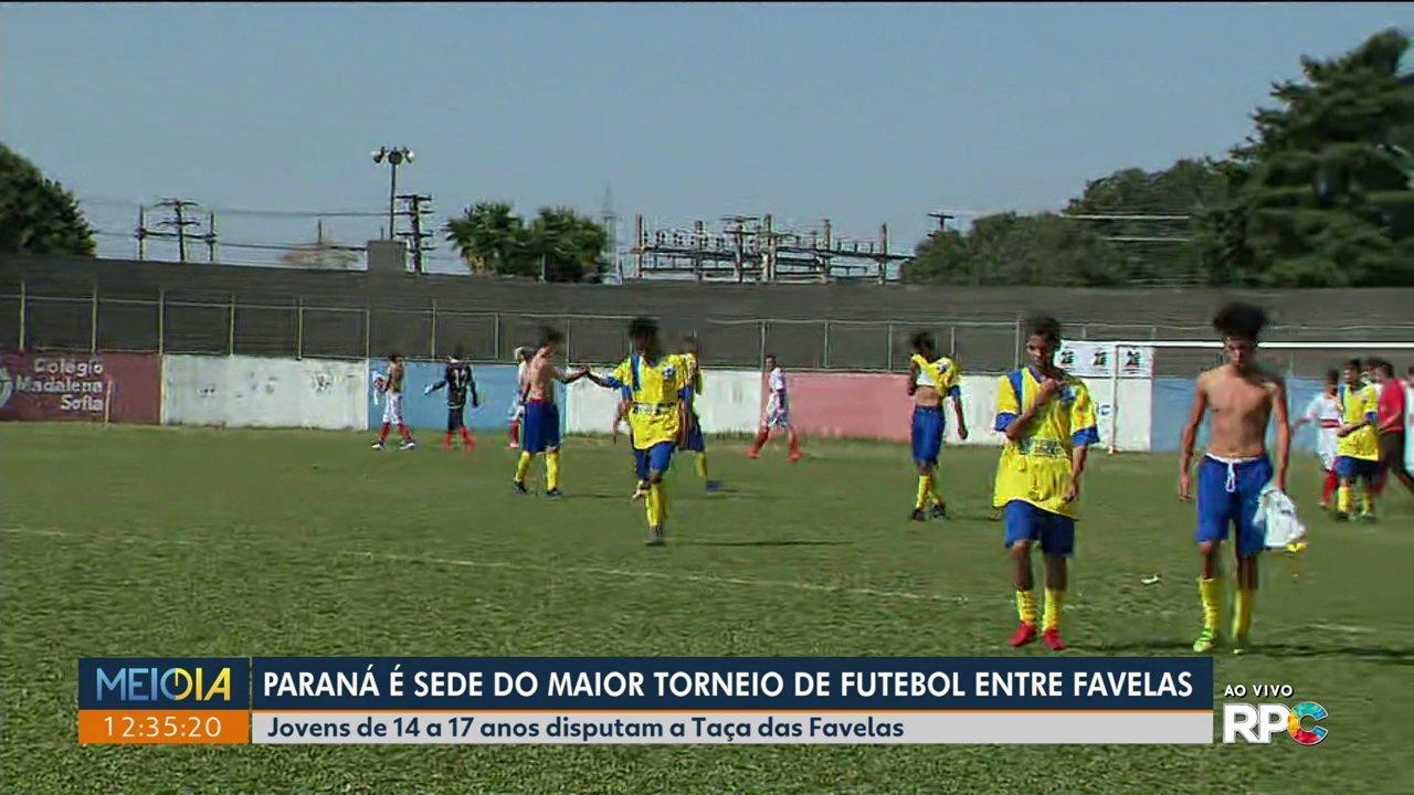 Paraná é sede do maior torneio de futebol entre favelas