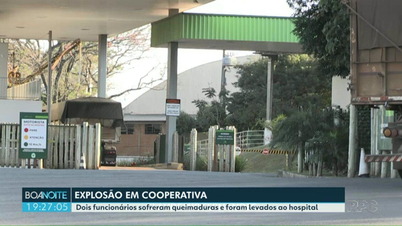 Funcionários ficam feridos em explosão dentro da Cooperativa Lar