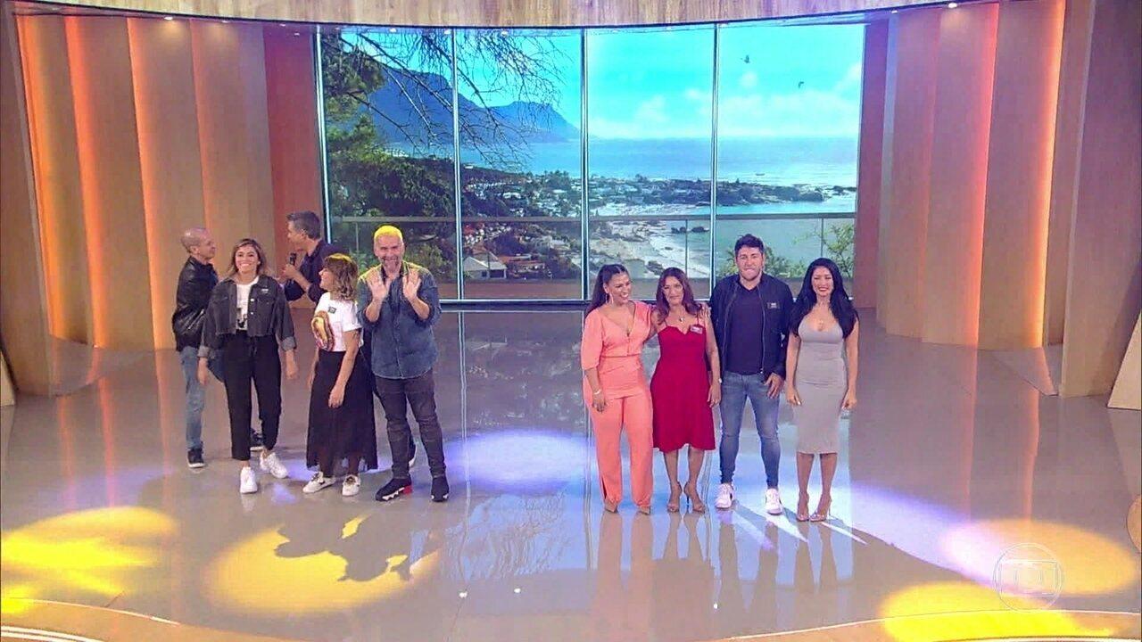 Simone, Simaria e Leandro Hassum apresentam suas famílias