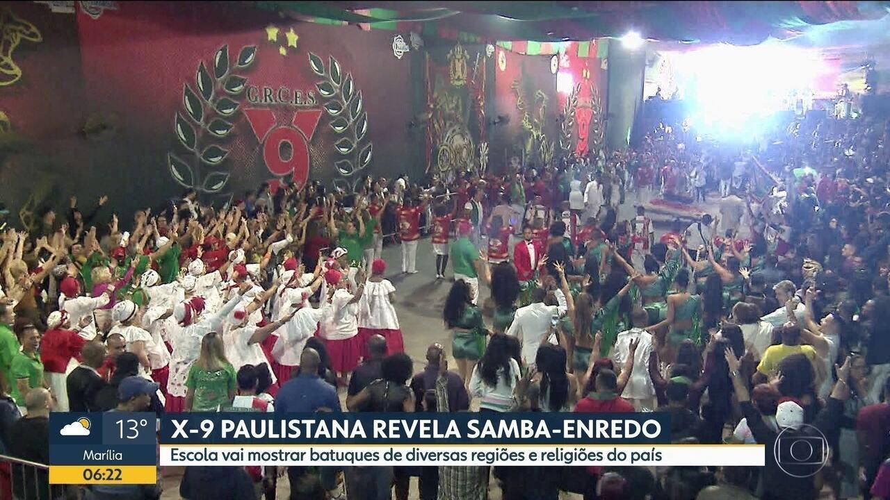 A X-9 Paulistana divulgou seu samba enredo para o Carnaval 2020